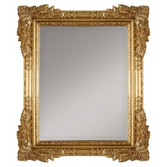 Classic Mirror Hand-Carved Fully Decorated in Gold Leaf Finish Made in Italy