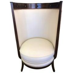 Classic Modern Curvy Chic Hotel Porter Club Chair