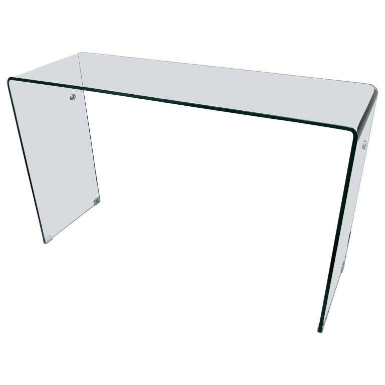 Classic Modern Glass Console or Desk