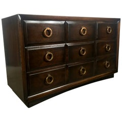 Classic Modern Regency 5-Drawer Dresser or Chest, Widdicomb Modern Original