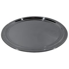 Classic Modern Sterling Silver Round Serving Tray by Tiffany