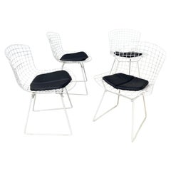 Classic Modern Wire Mesh Side Chairs by Harry Bertoia for Knoll