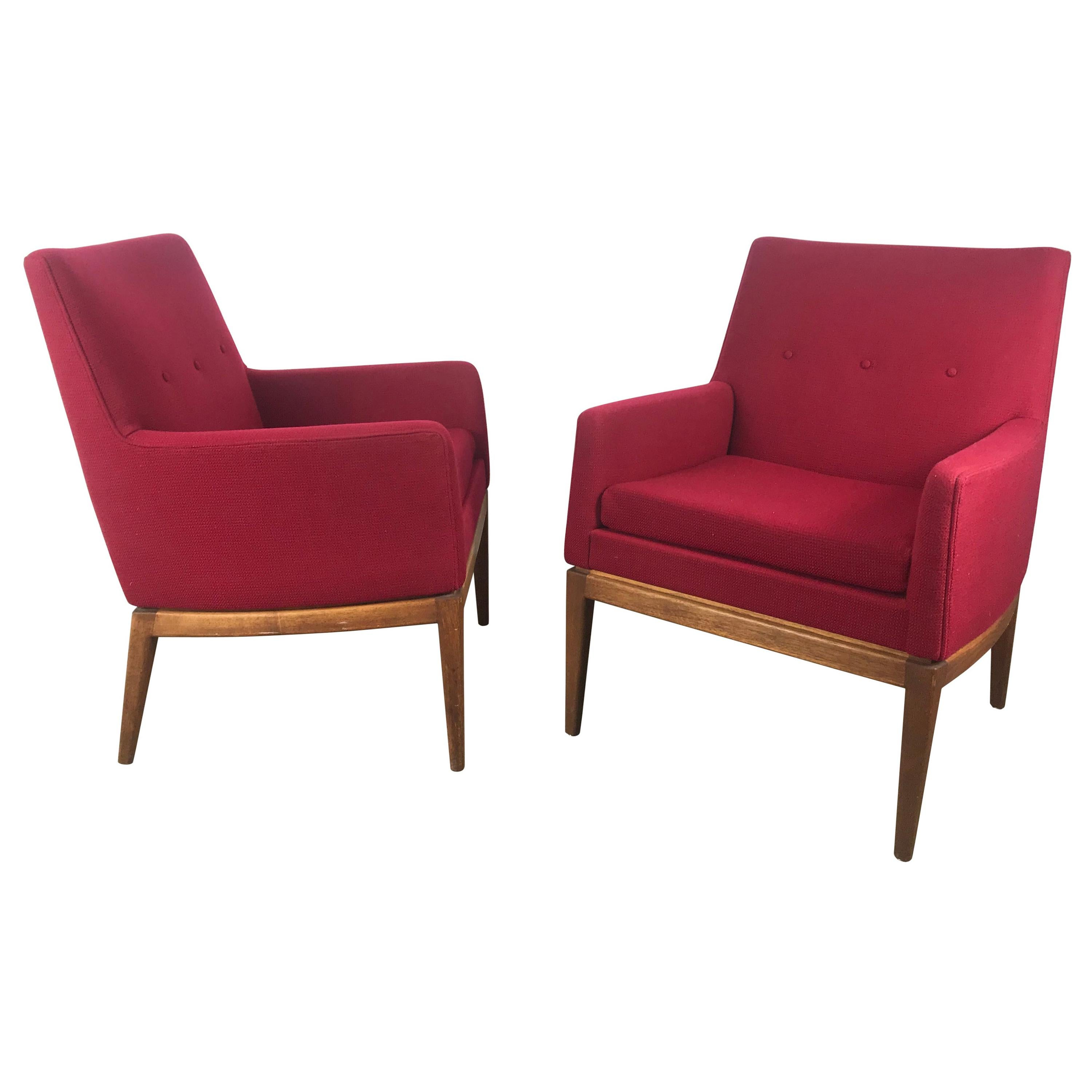 Classic Modernist Lounge Chairs Designed by Jens Risom, Jens Risom Design Inc