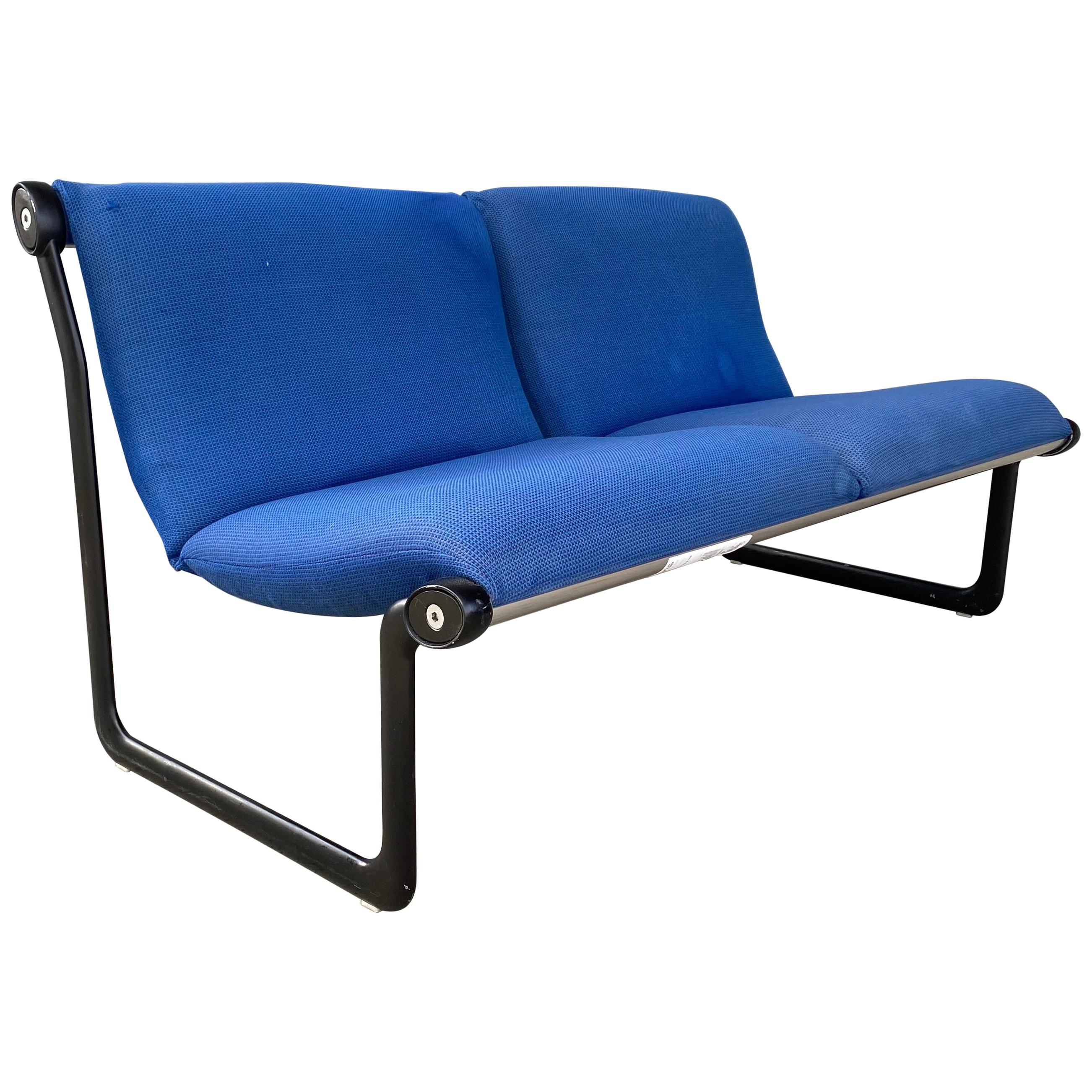 Classic Modernist Two-Seat Sling Sofa by Hannah Morrison for Knoll