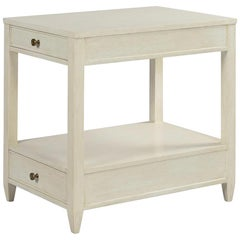Classic Narrow Side Table, Drift White