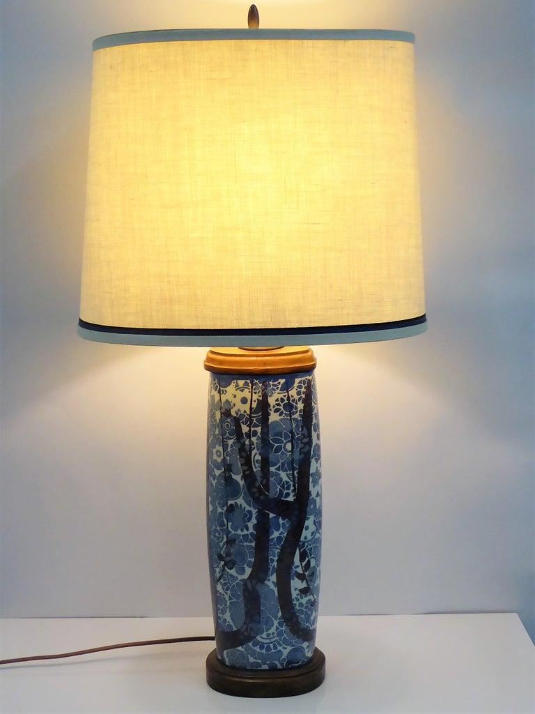 Classic Nils Thorsson Baca Aluminia Royal Copenhagen Table Lamp For Sale 6