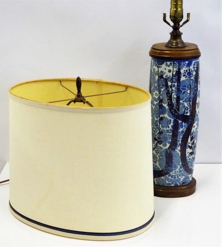 Classic Nils Thorsson Baca Aluminia Royal Copenhagen Table Lamp For Sale 7