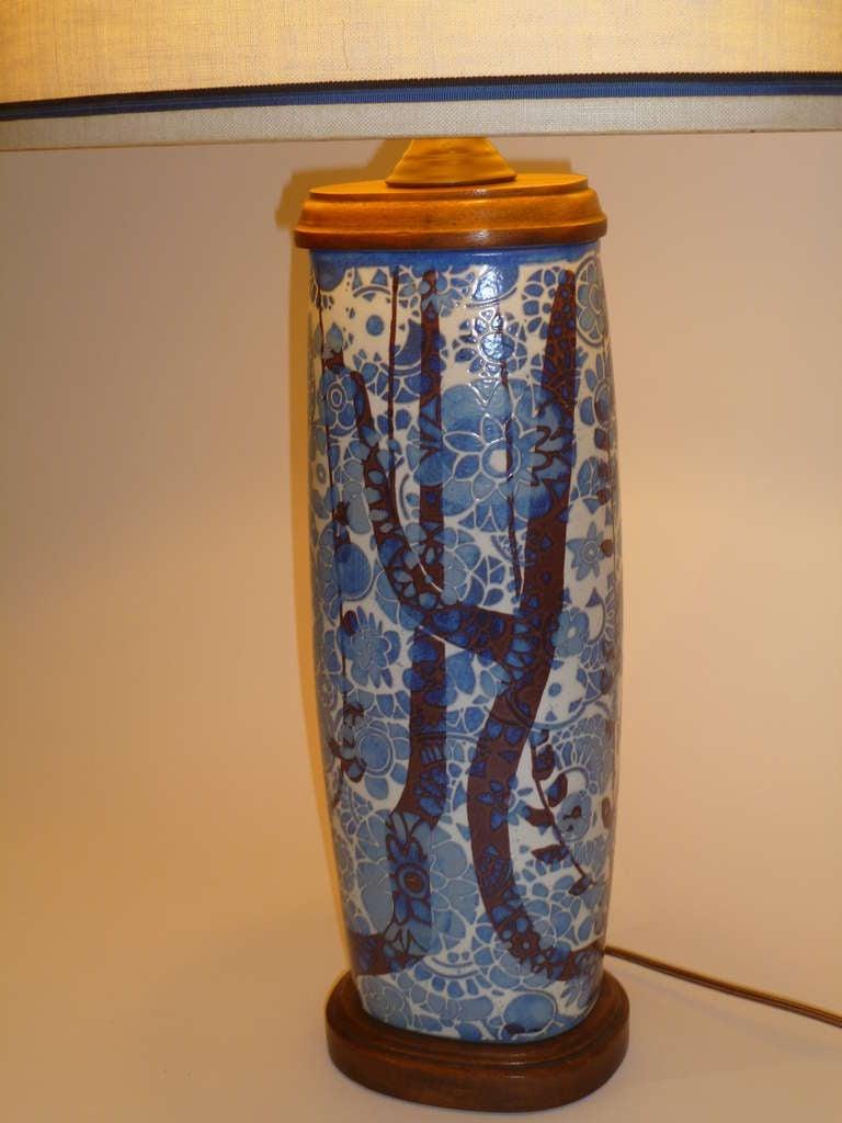Classic Nils Thorsson Baca Aluminia Royal Copenhagen Table Lamp For Sale 1