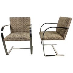 Classic Pair of Brno Chairs Designed by Mies Van Der Rohe for Knoll