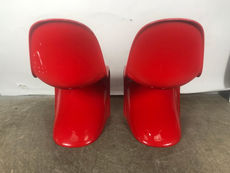 American Classic Pair of Red Molded Plastic 'S' Chairs by Verner Panton for Vitra For Sale