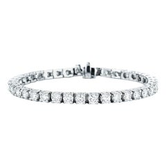 Classic Pave Diamond Tennis Bracelet 7 Carat Total Weight, 14K Gold, Ben Dannie