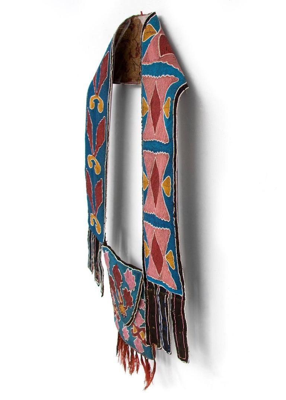 Classic Period Native American Beaded Bandolier Bag