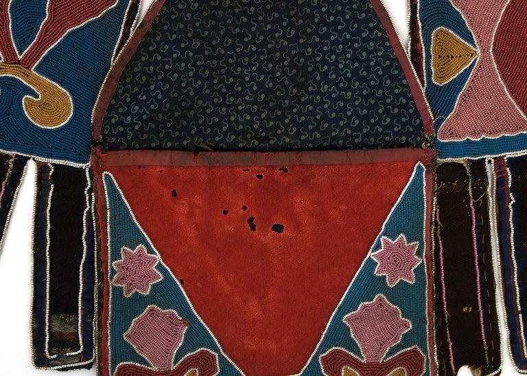 Classic Period Native American Beaded Bandolier Bag, Delaware, circa 1850 For Sale 4