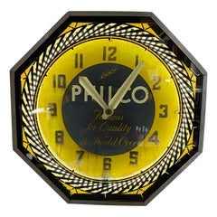 Classic Philco Neon Spinner Clock, Neon Products / Lima Ohio