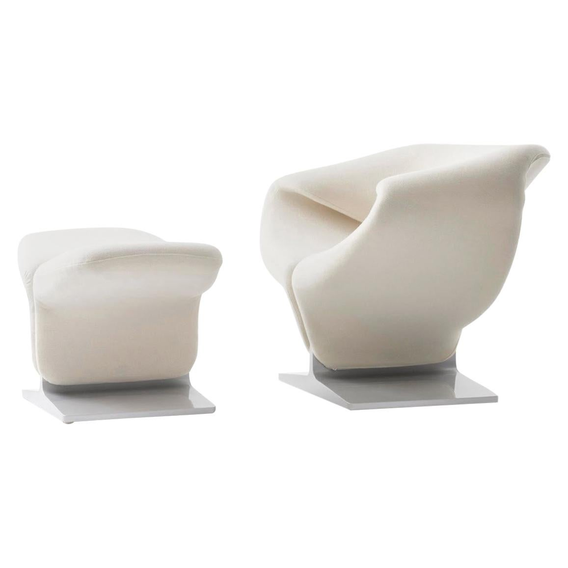 Ribbon Lounge Chair And Ottoman