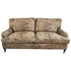Classic Plush George Smith Signature Standard English Roll Arm Sofa
