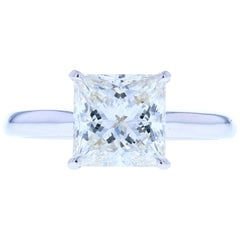 Classic Princess Cut Diamond Four Prong Solitaire Engagement Ring