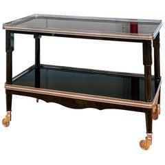 Classic Ralph Lauren Black Lacquered Tiered Serving Cart