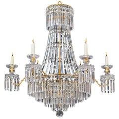 Classic Regency Chandelier of Tent and Waterfall Design