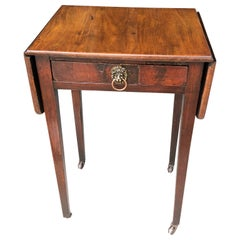 Classic Regency Style Drop-Leaf Table with Lion-Head Hardware