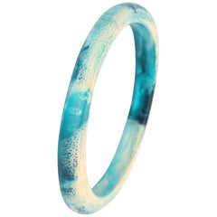 Classic Resin Wishbone Bangle in Lagoon