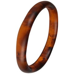 Classic Resin Wishbone Bangle in Tortoiseshell