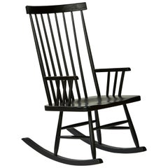 Classic Rocking Chair in Ebonized Ash by Mel Smilow