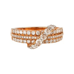Classic Rose Cut Diamond Ring in 18 Karat Rose Gold