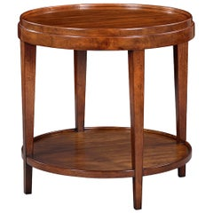 Classic Round End Table, Walnut
