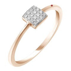 Classic Ruby Diamond Yellow Gold Ring