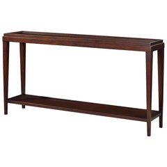 Classic Rustic Console Table, Mahogany Finish
