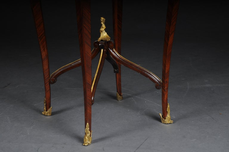 Classic Saloon Side Table in the Louis XV after F. Linke In Good Condition For Sale In Berlin, DE