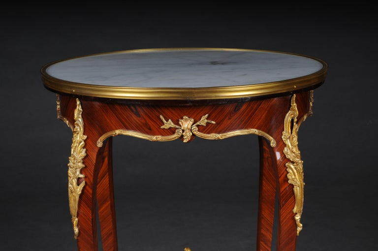 Beech Classic Saloon Side Table in the Louis XV after F. Linke For Sale