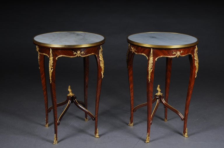Classic Saloon Side Table in the Louis XV after F. Linke For Sale 1