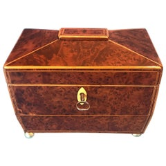 Classic Sarcophagus Regency Twin Lidded Tea Caddy