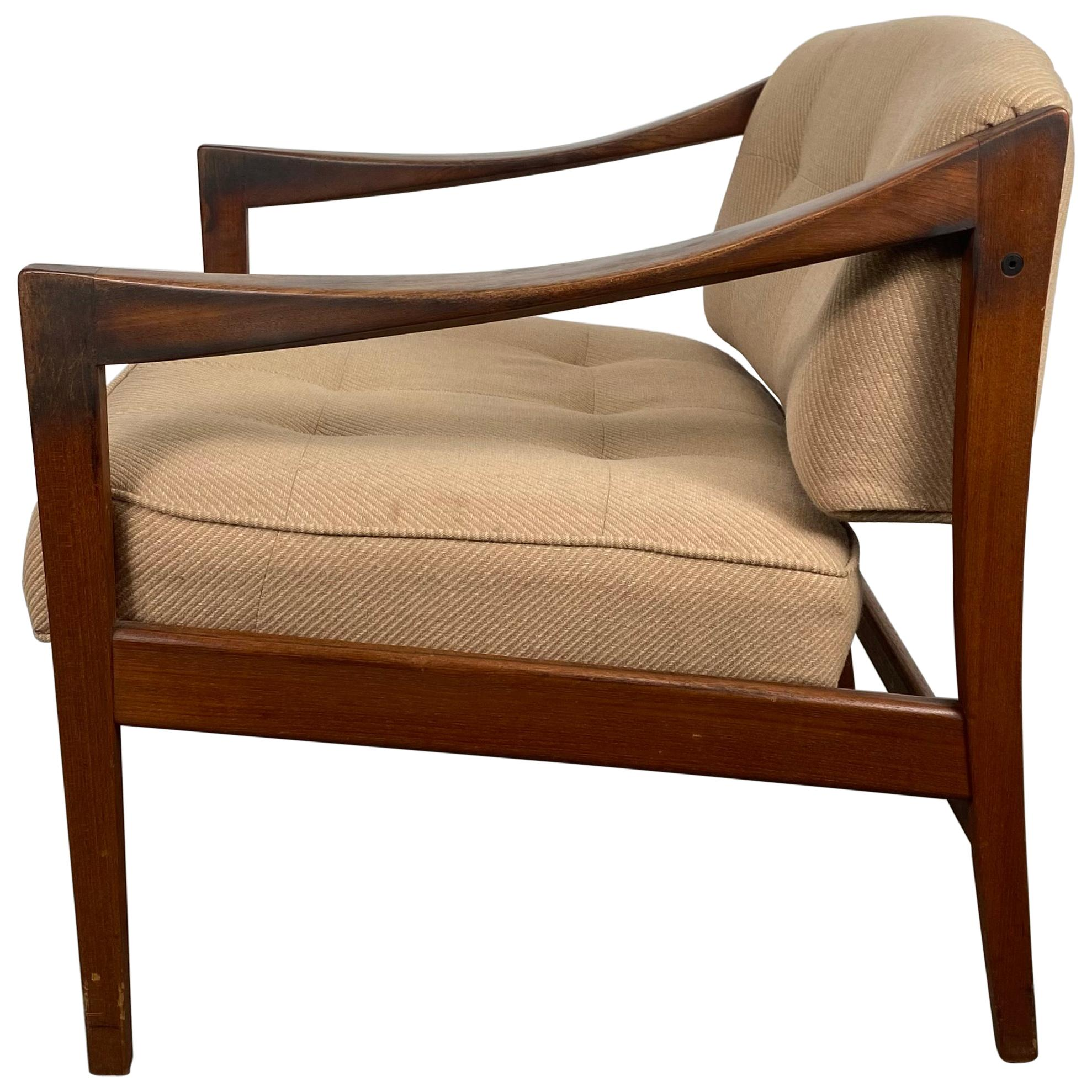 Classic Scandinavian Modern Walnut Lounge Chair by Dux, Sweden