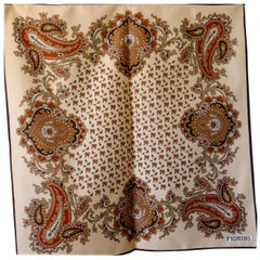 Classic Scarf Modern and Traditional Paisley  Design by Fiorini