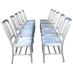 Classic set 10 Goodform All Aluminum Dining Chairs,/side chairs,