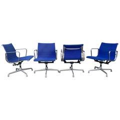 Classic Set 4 Vintage Eames Aluminum Group Armchairs / Herman Miller
