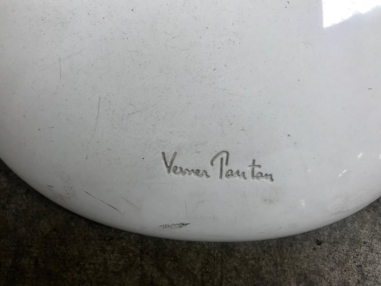 Classic Set of 4 White Molded Plastic 'S' Chairs by Verner Panton for Vitra For Sale 3