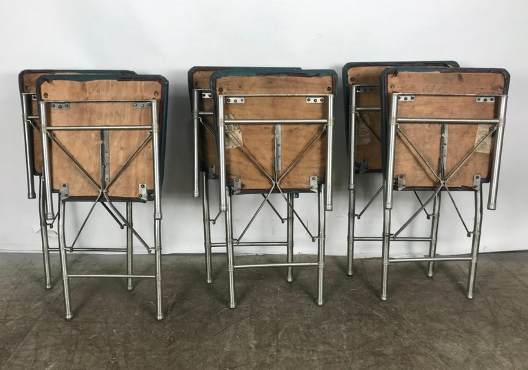 Mid-20th Century Classic set of 6 Side Dining Chairs by Warren McArthur..Art Deco, Machine Age For Sale