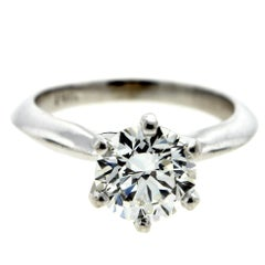 Classic Six-Prong Knife Edge Diamond Solitaire Engagement Ring GIA