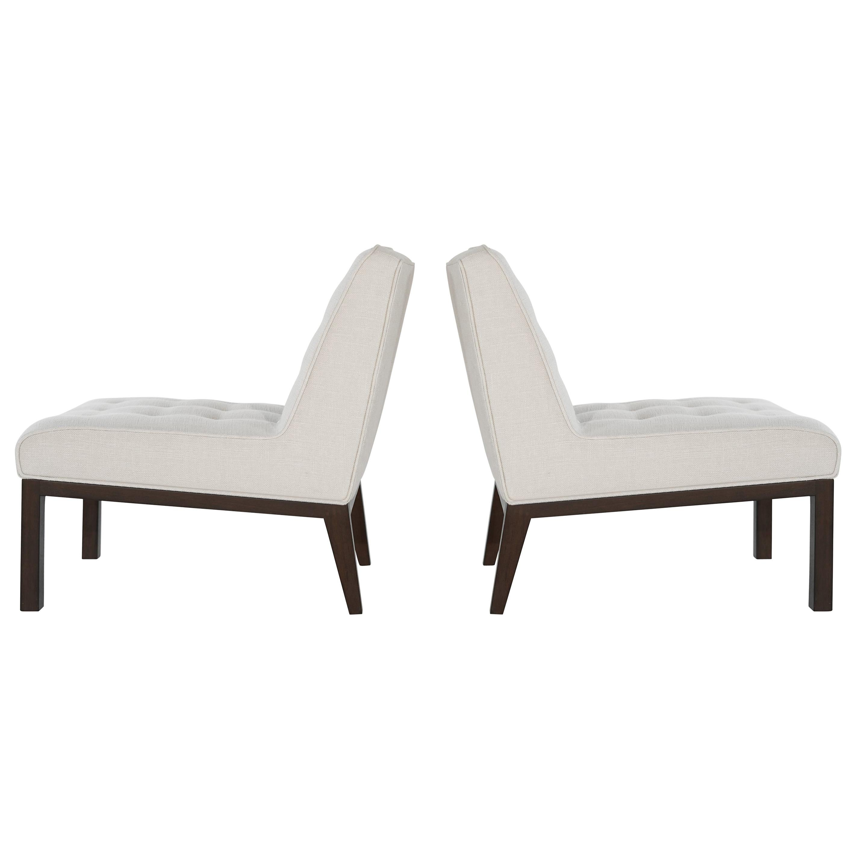 Classic Slipper Chairs by Edward Wormley for Dunbar, 1950s