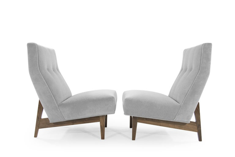 Mid-Century Modern Classic Slipper Chairs by Jens Risom, circa 1950s For Sale