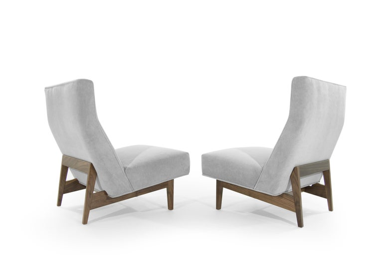 American Classic Slipper Chairs by Jens Risom, circa 1950s For Sale