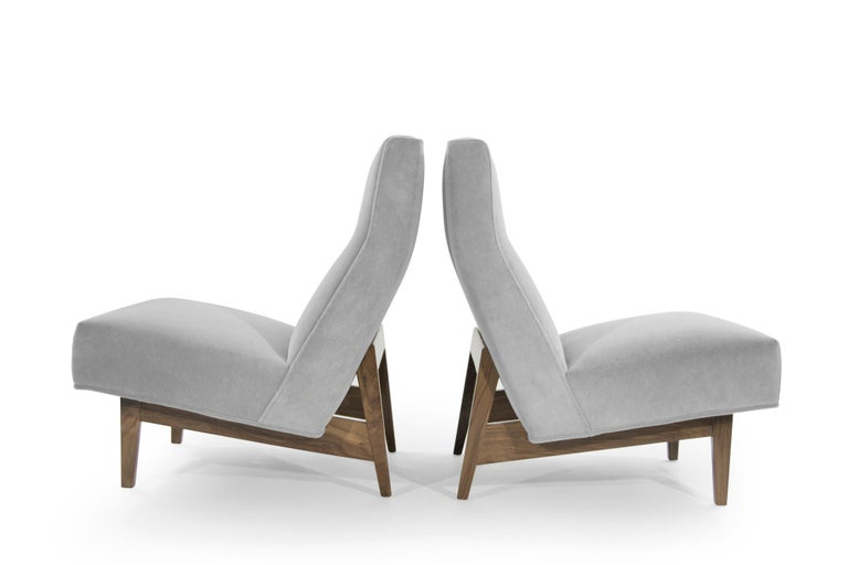 Classic Slipper Chairs by Jens Risom, circa 1950s In Excellent Condition For Sale In Stamford, CT