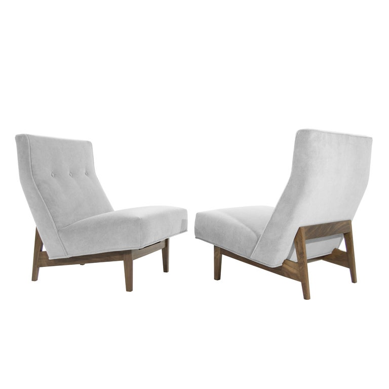Classic Slipper Chairs by Jens Risom, circa 1950s For Sale