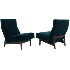 Classic Slipper Chairs by Jens Risom, circa 1950s