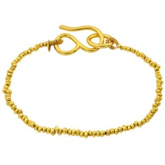 Classic Solid Gold Bead Bracelet