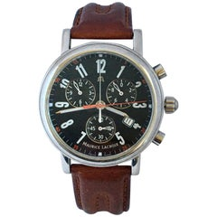 Classic Stainless Steel Maurice Lacroix LC1038 Chronograph Watch